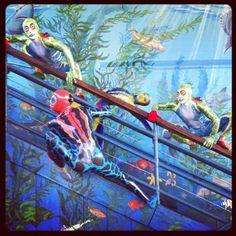 Cirque's Totem visits a local aquarium. I love on location viral marketing like this!