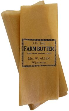 These butter wrappers were printed in Carnamah at The North Midland Times newspaper office for Mrs Ivy G. Allen of Mi Blu Aven Farm in Winchester. Times Newspaper, Milk, Butter, Cream, Winchester, Ephemera, Avon, Repurposed, Gems