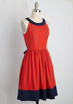 Day In and Date Out Dress in Cherry Soda. For an in-house dance party or outdoor adventure with your sweetie, this red dress is the ideal ensemble! #red #modcloth