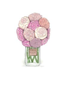 Peonies and Chanel by kelleyhughesdesigns on Etsy