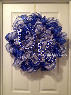 University of Kentucky Wildcats Deco Mesh Wreath