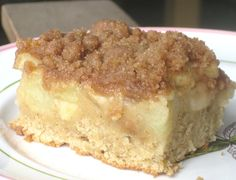 Just Bitten by a Dog Apple Coffee Cake with Spiced Crumb Topping adapted from Williams-Sonoma Crumb Topping: When making this the first ti. Apple Recipes, Baking Recipes, Sweet Recipes, Cake Recipes, Dessert Recipes, Yummy Recipes, Breakfast Recipes, Recipies, Breakfast Dishes