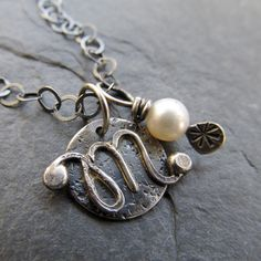 Custom Silver Letter Initial Charm Pendant Teen Tween MOM Gift Personalized funky alphabet CHARM Necklace