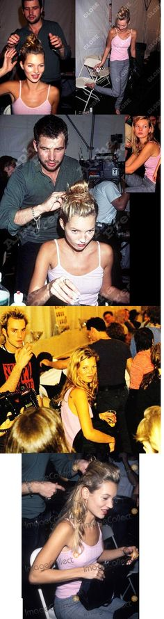 Kate Moss (backstage) Runway ~ Catwalk