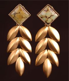 Corndance turquoise earrings by Maria Samora