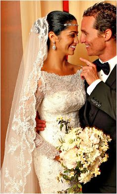 Retrô - Casamento de famosos 2012. Camila Alves e Matthew McConaughey