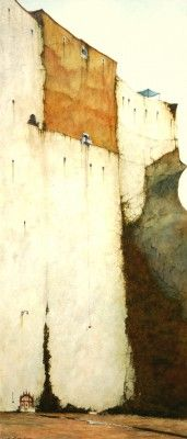 British Artist Cyril CROUCHER-Unpainted House Frigiliana
