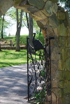 Francine Gardner - Art de Vivre: Garden walls, fences and gates. Peacock Decor, Door Entryway, Walled Garden, Garden Gates, Garden Doors, Entrance Gates, Fence Gate, Iron Gates, Private Garden