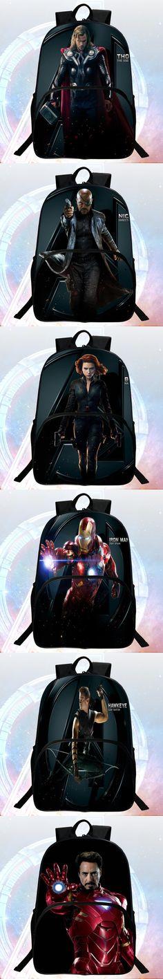 2016 New Style 16-inch Printing Hero Thor Avengers Children Backpacks kids School Bags Students Mochila Bag Boys School Backpack
