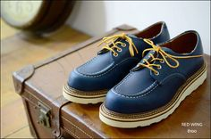 RED WING WORK OXFORD INDIGO