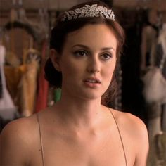 """Blair Waldorf getting ready for her wedding to Chuck Bass in the episode """"New York, I Love You XOXO""""......"""