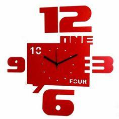 Klok One Four Red Wall Clock,Wall Clocks-Christmas-Catalog