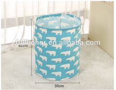 Hot selling handmade cotton rope laundry basket with handles wheels legs storage bag Wire Decorative Stacking Laundry Basket