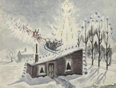 Twas The Night Before Christmas Artwork by Charles Burchfield