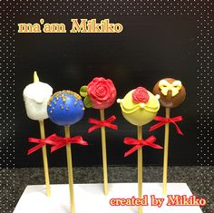 """beauty and the beast ""cake pops"