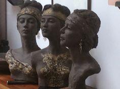 Lena Sculptures Céramiques, Ceramic Sculptures, Vintage Mannequin, Clay Figures, Ceramic Art, Pottery, Statue, Terracotta, Portraits
