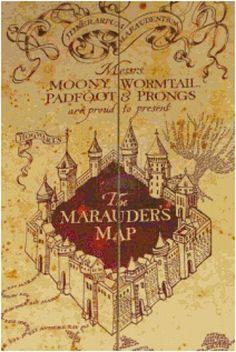 Harry Potter's Marauder's Map PDF Cross Stitch Pattern   CSDesignsbyLeah - Patterns on ArtFire