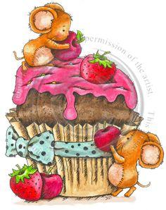 cute as cupcake mice