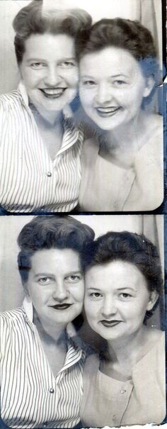 Vintage Photo Booth Photos..Cheek to Cheek 1950's, Original Photo, Old Photo Snapshot, Vernacular Photography, American Social History Photo by iloveyoumorephotos on Etsy