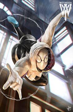 Spider Gwen again 3th i think by wizyakuza.deviantart.com on @DeviantArt