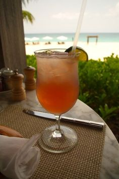 Here's the recipe for The Islander, the signature rum cocktail