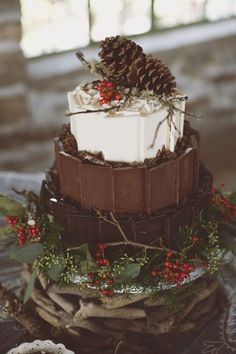 Winter Chocolate Wedding Cake 20 Decadent and Delicious Chocolate Wedding Cakes – Plus 10 Things You Never Knew About Chocolate!
