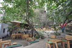 Six Dogs   Cafeteria · Art gallery · Nightclub  6-8 Avramiotou Street, Monastiraki, Athens, GR.   http://sixdogs.gr/