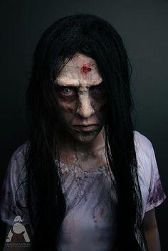 31 Days Of Halloween makeup Samara - The Ring by Amanda Chapman www.facebook.com/amandachapmanphotography