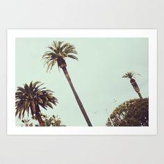 California Palms Art Print by Bailey Munson