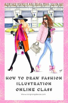 Learn how to draw fashion illustration with markers online class, taught by professional fashion illustrator Rongrong DeVoe. She teaches you how to draw figure, how to coloring and how to gether a moodboard for your illustration ideas and many more resources.  www.rongrongdevoe.com