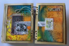 Student Work (art journal) by Ruthsartdemavie in Inventive Ink – Colorful Mixed Media Effects class.  Register here: craftsy.me/1ONw8iG