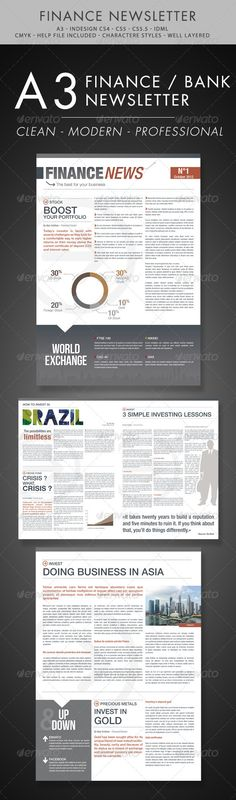 10 Best Indesign Newsletter Templates | Graphic Design | Pinterest