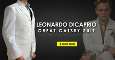 Gatsby Suit has peak lapel with one back vent from high quality linen taken from movie The Great Gatsby, Get narrow style Leonardo DiCaprio Off White Suit Leonardo Dicaprio Great Gatsby, Gatsby Costume, White Suits, Suit Shop, The Great Gatsby, One Back, Mens Fashion, Guys, Style