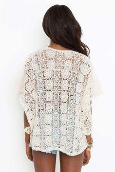Solana Crochet Kimono   Shop What's New at Nasty Gal
