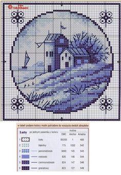 Sweet home : Sinine ristpiste (holland) Cross Stitch House, Mini Cross Stitch, Cross Stitch Charts, Cross Stitch Designs, Cross Stitch Patterns, Blackwork Embroidery, Cross Stitch Embroidery, Embroidery Patterns, Delft