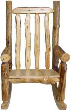 $479 Beartooth Aspen Log Rocking Chair
