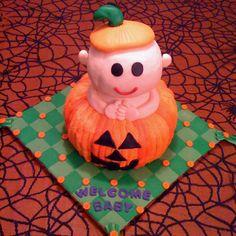 Halloween Theme Baby Shower Cake