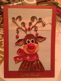 Raindeer by quilling