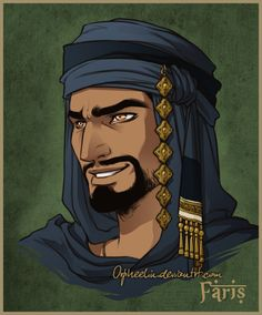 "New characters for the ""Djihanes"" story. I always make quick portraits for our roleplay. Faris Dassarath is a high born man (a cousin from the royal family). He's the governor of Arfarat, the biggest..."