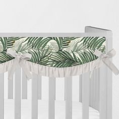 Items similar to King Palm Leaves Rail Guard ~ Palm Rail Cover ~ Teething Rail Covers ~ Palm Leaf Nursery ~ Baby Gifts ~ Monstera Teething Guard on Etsy Crib Rail Cover, Rail Guard, Crib Sheets, Nursery Themes, Teething, Cribs, Greenery, Baby Gifts