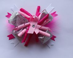 Visit; Mallari Lee's Hair Accesories on Facebook to view more about these adorable Breast Cancer bows!