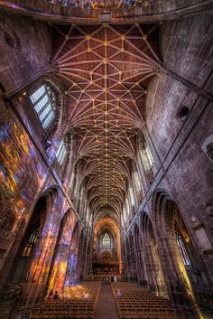 Chester Cathedral - The Nave Cathedral Architecture, Religious Architecture, Gothic Architecture, Historical Architecture, Architecture Design, Chester Cathedral, Cathedral Church, Religion, Ancient Buildings