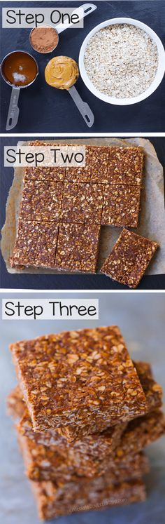 "A ""lightened up"" version of those classic chocolate oatmeal no bake bars everyone loves so much"