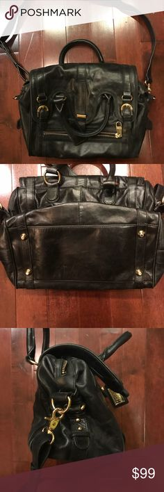 Badgley Mischka tophandle crossbody handbag purse Good condition! Has some minor wear to inside. Crossbody strap is removable. Bag is coming undone in one area - can probably be fixed. Badgley Mischka Bags Crossbody Bags