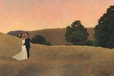 Surprise Wedding Painting | Custom Wedding Painting | Couples Portrait — Mary Paints Weddings