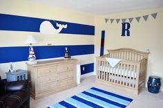 Whale nursery idea with Levi's crib Nautical Theme Nursery, Whale Nursery, Nursery Themes, Room Themes, Nursery Room, Sea Nursery, Nursery Modern, Themed Nursery, Nursery Ideas