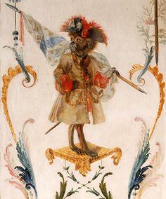 """Domaine de Chantilly - """"Détail de la grande singerie""""— Christophe Huet (XVIIIe siècle)"""
