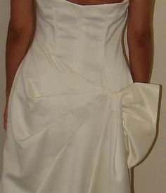 Nahdree by Victor Costa Sz 6 White Bridal Pageant Ball Gown Bustle Style 253102 | eBay