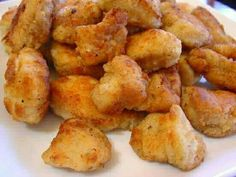 Chick-fil-A Bites  I love these...must try   1 pound boneless, skinless chicken breasts, cut into 1-inch chunks  1 cup dill pickle juice  1 1/2 cups milk, divided  1 cup peanut oil  1 large egg  1 1/4 cups all-purpose flour  1 tablespoon confectioners' sugar  Kosher salt and freshly ground black pepper, to taste  FOR THE HONEY MUSTARD  1/4 cup mayonnaise  2 tablespoons honey  1 tablespoon mustard  2 teaspoons Dijon mustard  2 teaspoons freshly squeezed lemon juice   To make the honey…