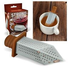 Fred Strong Brew Tea Infuser Silicone Loose Leaf Strainer Herbal Spice Filter